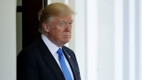 President Donald Trump at the White House in Washington, DC.