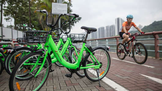 Go Bee Bike company started providing shared cycling services to the public in Hong Kong on April 20, 2017.