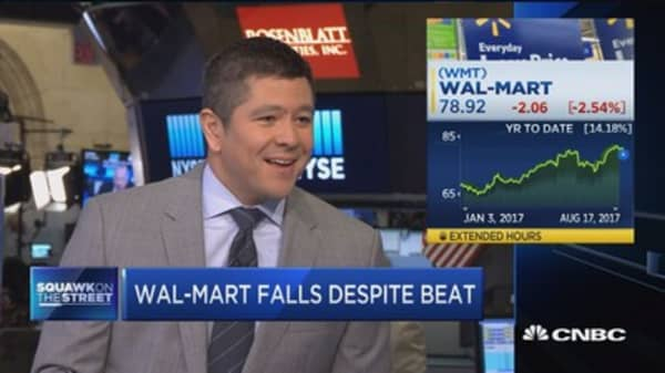 'Worried' about Wal-Mart's grocery comps: Jim Cramer