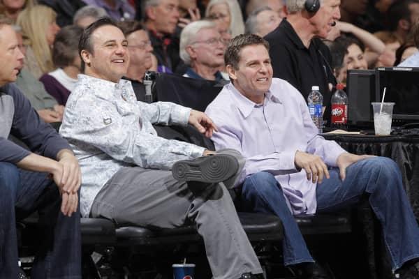 Owners Gavin Maloof and Joe Maloof of the Sacramento Kings