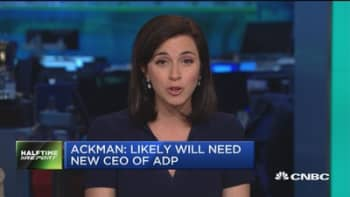 Ackman: Likely will need new CEO of ADP