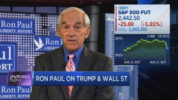 Ron Paul predicts stocks will drop by 50%
