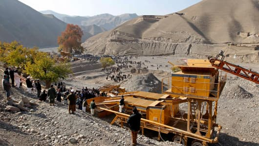 View of a gold mine in Nor Aaba, Takhar province, Afghanistan.