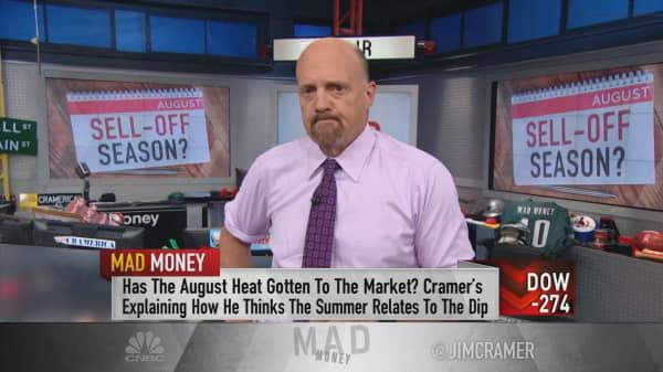 Cramer: Selloff not happening because of Trump