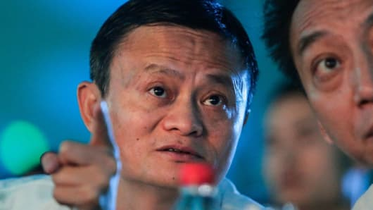 Jack Ma founder of the Alibaba Group attends the 2017 forum on rural headmasters