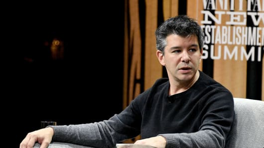 Uber Ex-CEO Travis Kalanick speaks at a Vanity Fair summit at Yerba Buena Center for the Arts on October 19, 2016 in San Francisco, California.