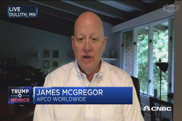 US-China locked in 'hot' trade competition: APCO Worldwide's James McGregor