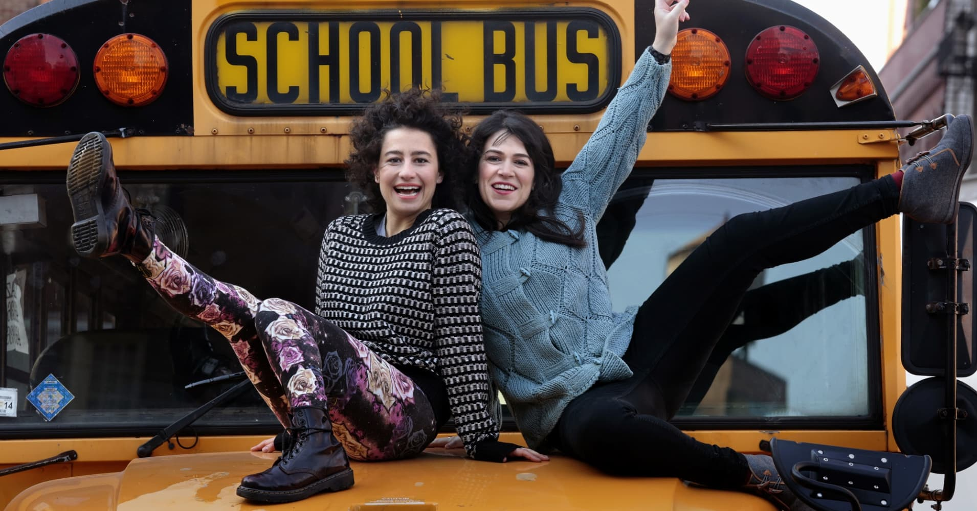 """Ilana Glazer, left, and Abbi Jacobson, right, stars and writers of Comedy Central's """"Broad City"""""""