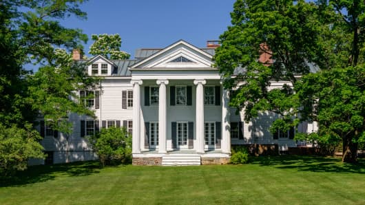 Christie Brinkley's three-story Colonial mansion in Sag Harbor, New York