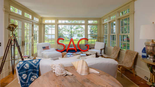 Christie Brinkley's Sag Harbor estate has numerous views of the bay.