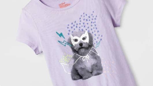 Target Girls' Sensory Friendly Graphic Short Sleeve T-Shirt