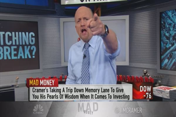 Cramer finds a new way to look at 'broken stocks' in a sell-off