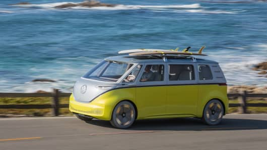 Volkswagen reveals electric microbus