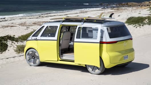 Volkswagen gives green light for electric version of classic Microbus camper van