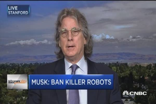 What is the appropriate role of of technology: McNamee on Musk letter to ban killer robots