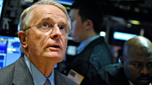 James Maguire on the floor of the New York Stock Exchange in 2007.
