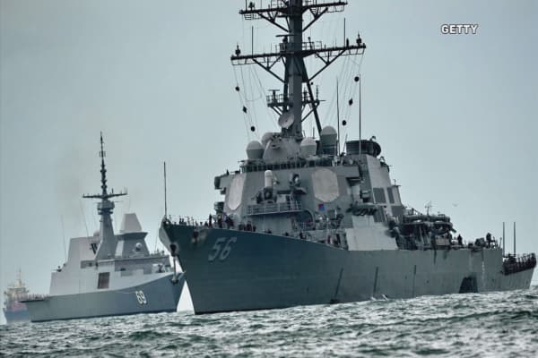 10 sailors missing after USS John S. McCain collides with 600-foot tanker
