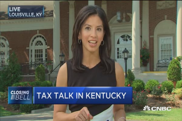 Mitch McConnell and Steven Mnuchin talk taxes in Kentucky