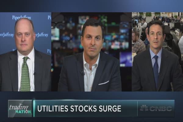 Electric run for utilities stocks