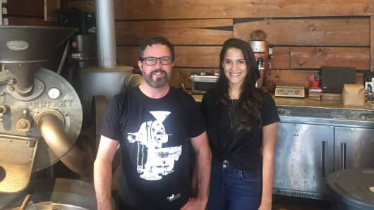 Joel and Leticia Pollock start their workers at a minimum of $10 an hour, not including tips, at Panther Coffee, with three locations across Miami and Miami Beach. A battle over raising the minimum wage is ongoing in Miami Beach.
