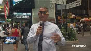 Guy Adami hits the streets for a reaction to today's historic events in the skies
