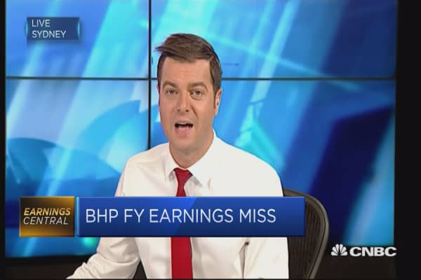 BHP's Australian shares gain after earnings