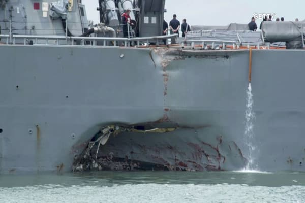 Collision of USS John S. McCain is met with 'applause' in China, according to state media