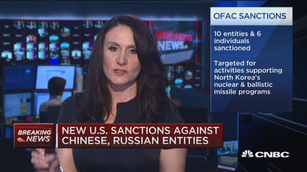 New US sanctions against Chinese, Russian entities