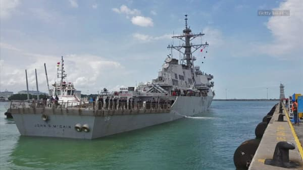 USS John S. McCain: Remains of missing sailors found