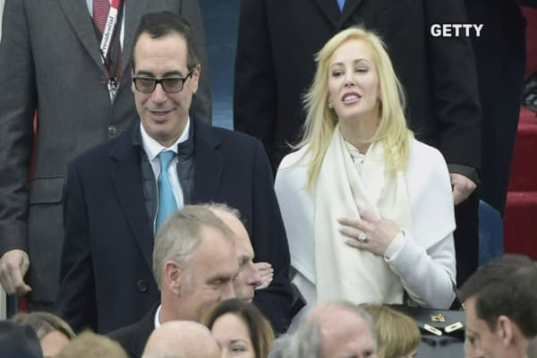 Mnuchin's wife, Louise Linton, spars with an Instagram user after touting her designer clothing