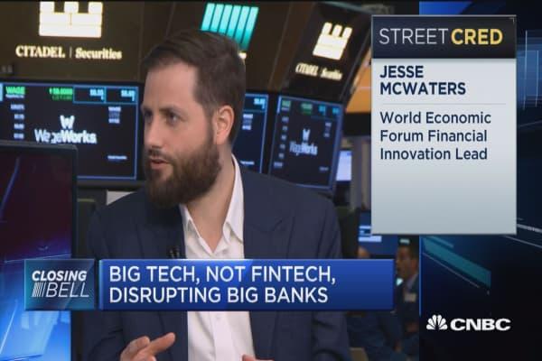 Big tech, not fintech, disrupting big banks