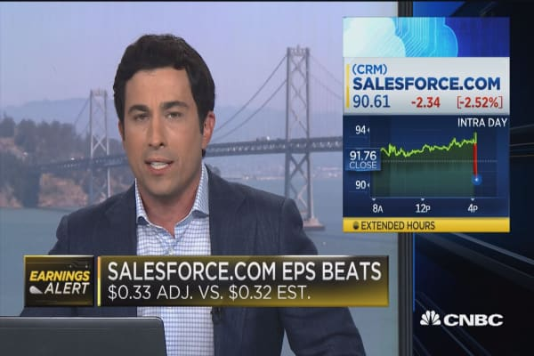 Salesforce beats on top and bottom line
