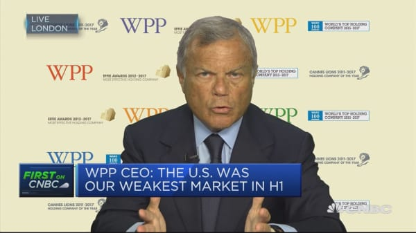 WPP CEO: Digital disruption means growth needs to come from online