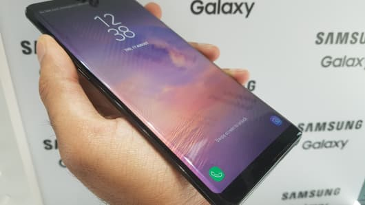 Samsung's Galaxy Note 8 has a 6.3-inch infinity display which was first introduced on the Galaxy S8. It almost covers the entire front of the phone.
