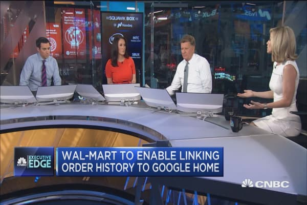 Executive Edge: Wal-Mart, Google team up to take on Amazon's Alexa