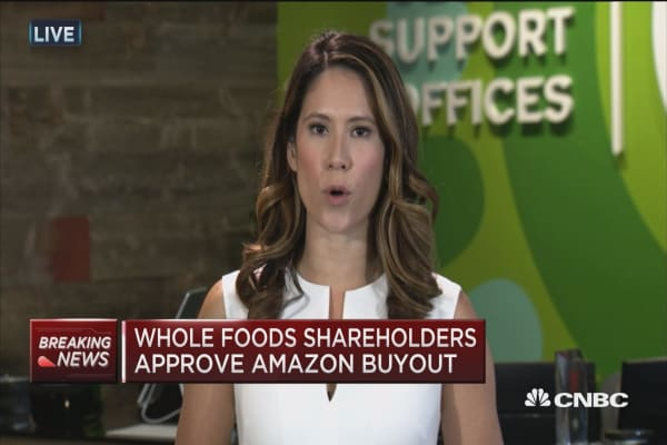 Whole Foods shareholders approve Amazon buyout