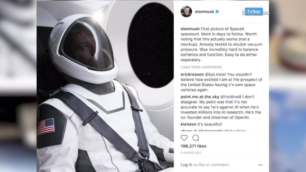 Elon Musk just unveiled the SpaceX spacesuit