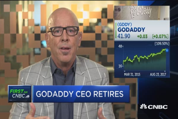 It's a perfect time for me to move on to what's next for me: Outgoing GoDaddy CEO
