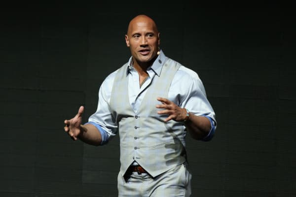 Dwayne Johnson speaks at Paramount Pictures' presentation during CinemaCon