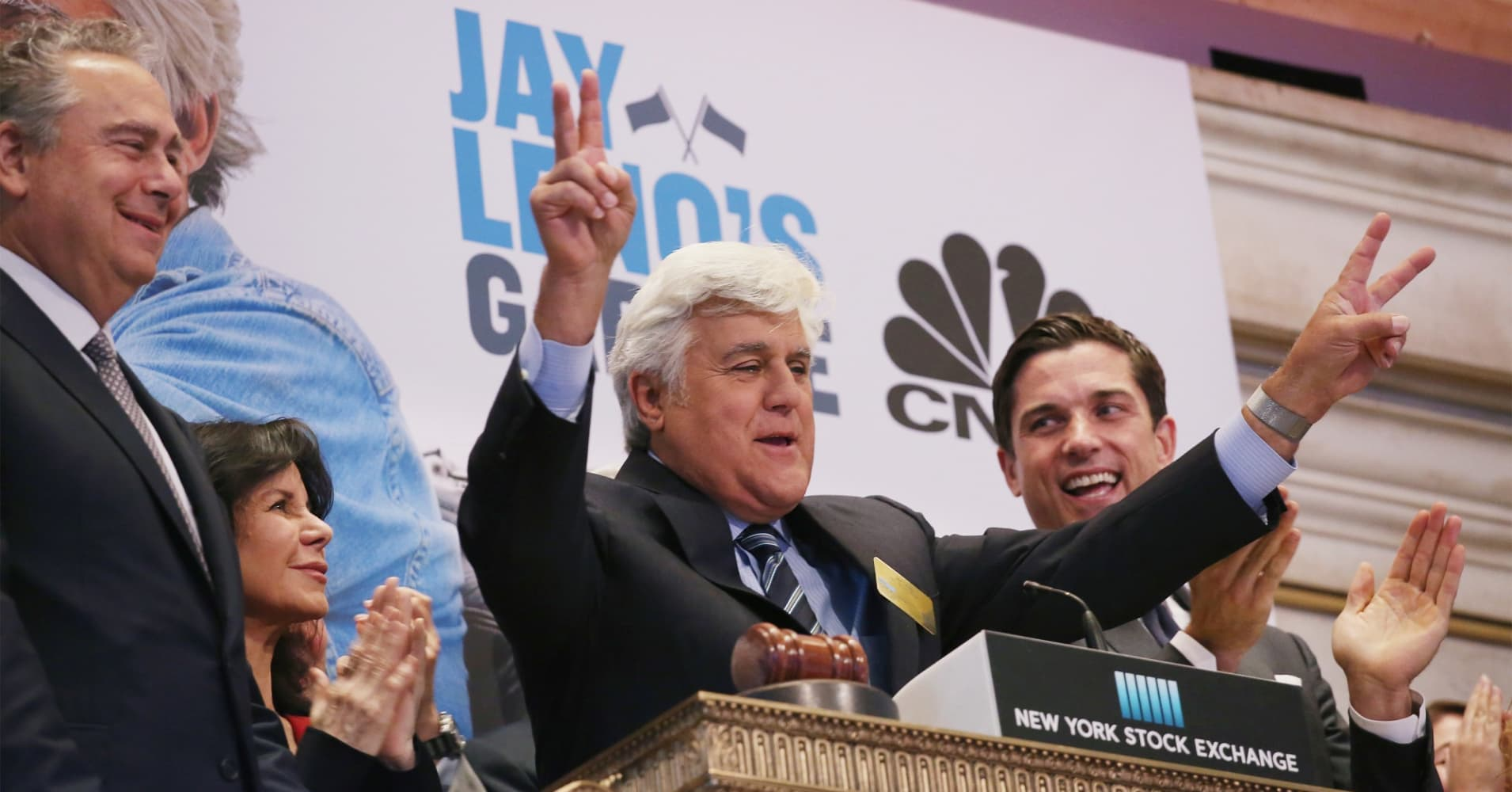 Jay Leno and President of NYSE Group at Intercontinental Exchange, Inc.