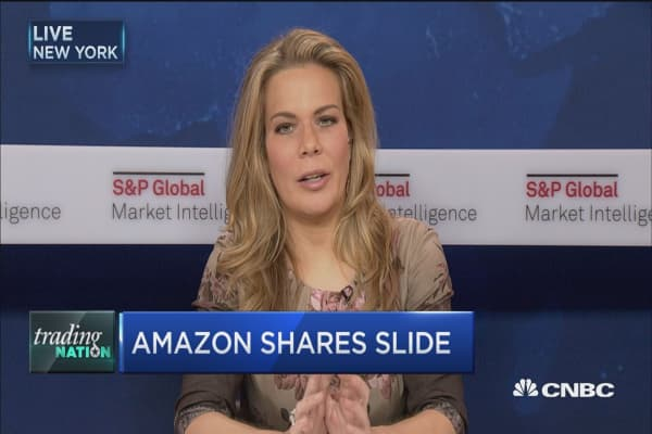 Amazon shares slide