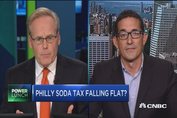 Phildelphia soda tax falling flat