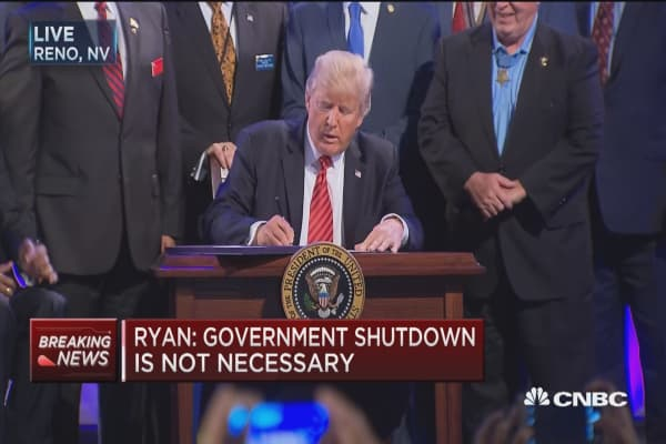 Ryan: Government shutdown is not necessary