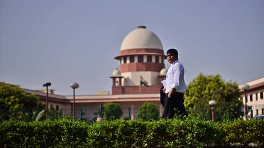 Supreme Court Advocate Kabir Dixit poses for a profile shoot on May 22, 2015 in New Delhi, India.