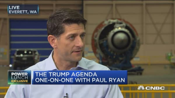 Speaker Paul Ryan speaks to CNBC about tax reform
