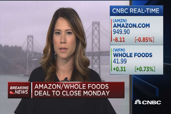 Amazon-Whole Foods deal to close on Monday