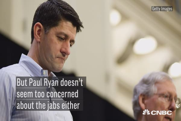 Paul Ryan isn't concerned the government will shut down next month