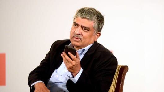 Nandan Nilekani, current chairman and former CEO of Infosys.