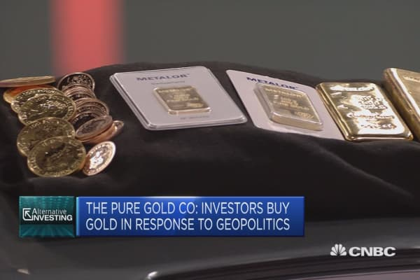 The Pure Gold Company: Investors buy gold in response to geopolitics
