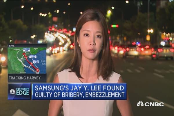 South Korean court finds Samsung heir guilty of bribery